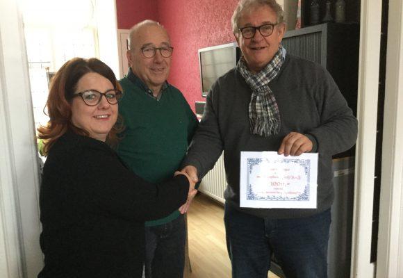 Doorkomstcomite Roparun Halsteren schenkt het Getij een mooi bedrag…